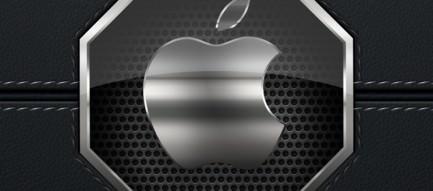 レザー・ブラック iPhone5 スマホ用壁紙