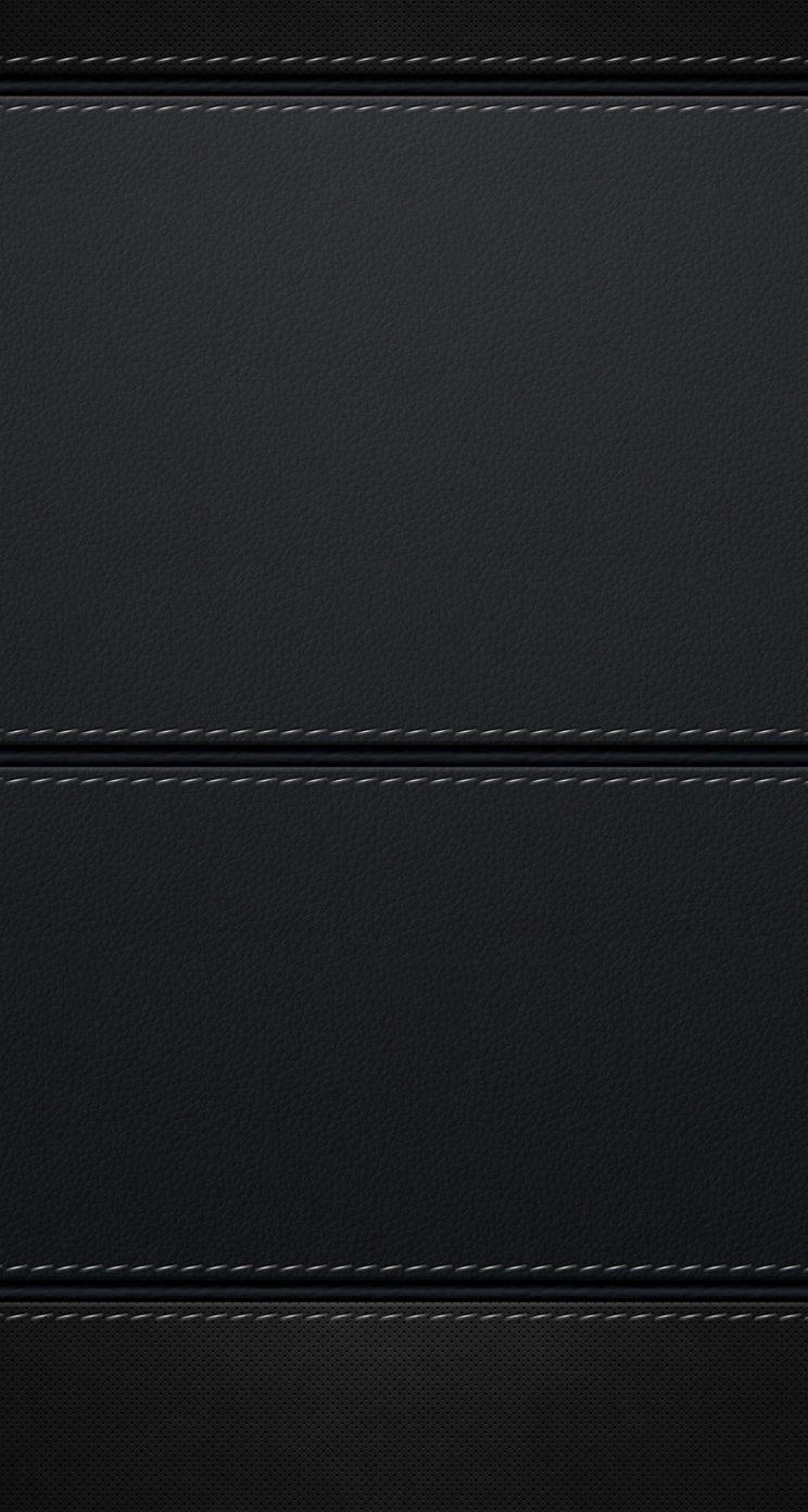 シンプルな黒のレザー調のiphone5 スマホ用壁紙 Wallpaperbox