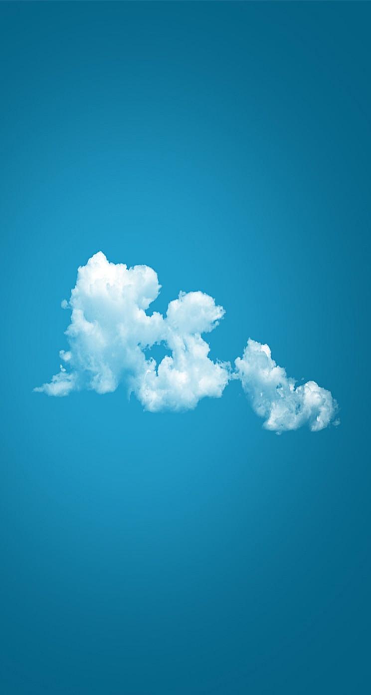空に浮かぶ綺麗な雲 iPhone5 スマホ用壁紙