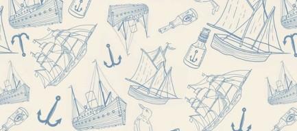 オシャレな海洋系イラスト iPhone5 スマホ用壁紙