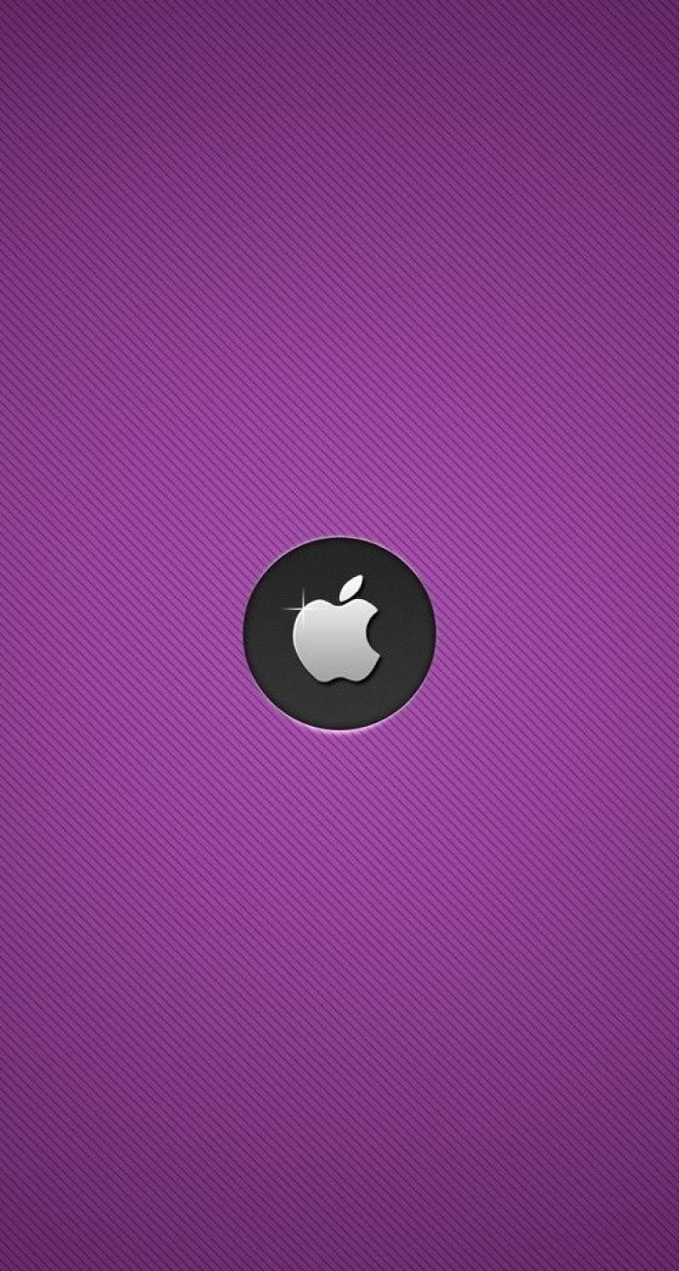 シンプルで綺麗な紫のiPhone5 スマホ用壁紙