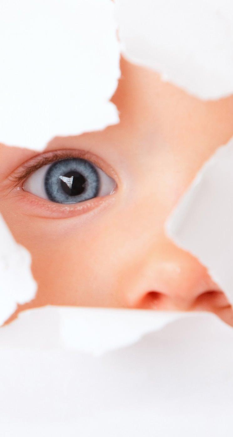 覗く赤ちゃん iPhone5 スマホ用壁紙