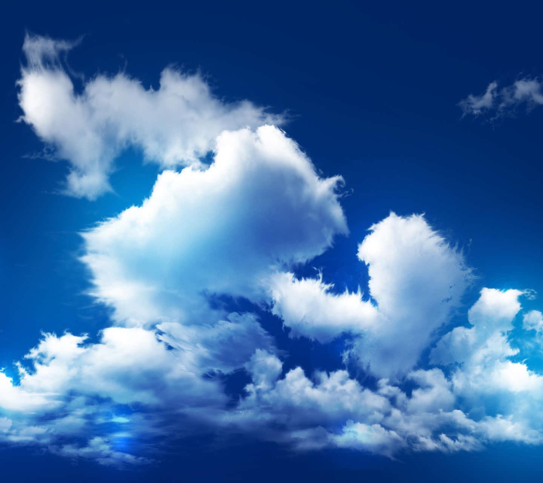 雲がつらなる晴天 Androidスマホ用壁紙
