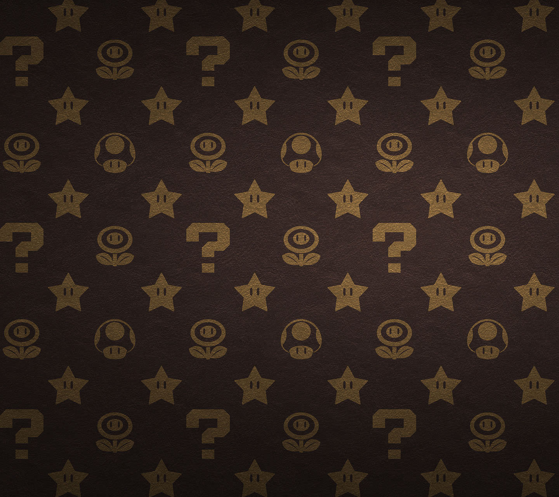 ビトン風スーパーマリオ Androidスマホ用壁紙