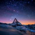 山脈と星空 Androidスマホ用壁紙