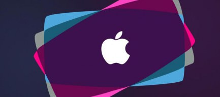 Purple Apple Logo iPhone5 スマホ用壁紙