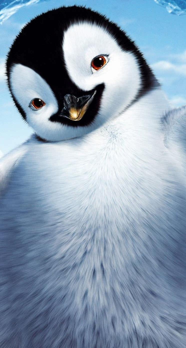 ペンギンの子供 iPhone5 スマホ用壁紙