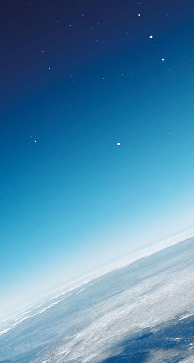 夜空と地球 iPhone5 スマホ用壁紙