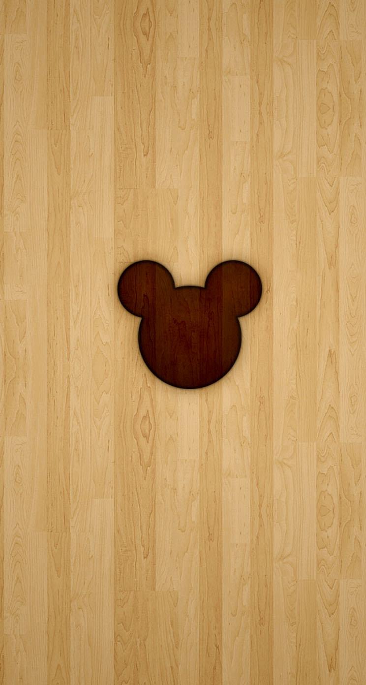 ディズニーのマーク iPhone5 スマホ用壁紙