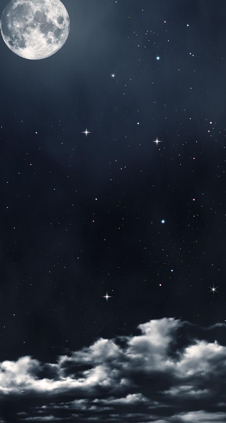 Black Sky iPhone5 スマホ用壁紙