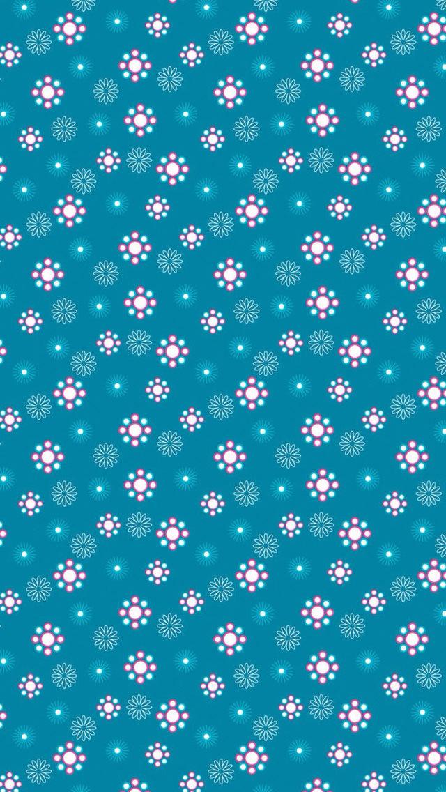 小さい花の模様 iPhone5 スマホ用壁紙