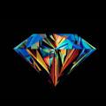 カラフルなダイヤモンド iPhone5 スマホ用壁紙
