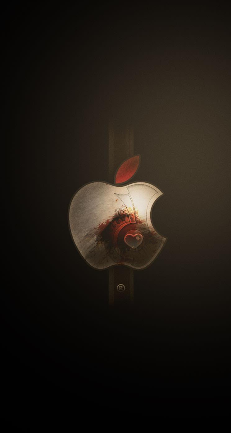 落ち着いた印象のアップルロゴ Iphone5 スマホ用壁紙 Wallpaperbox