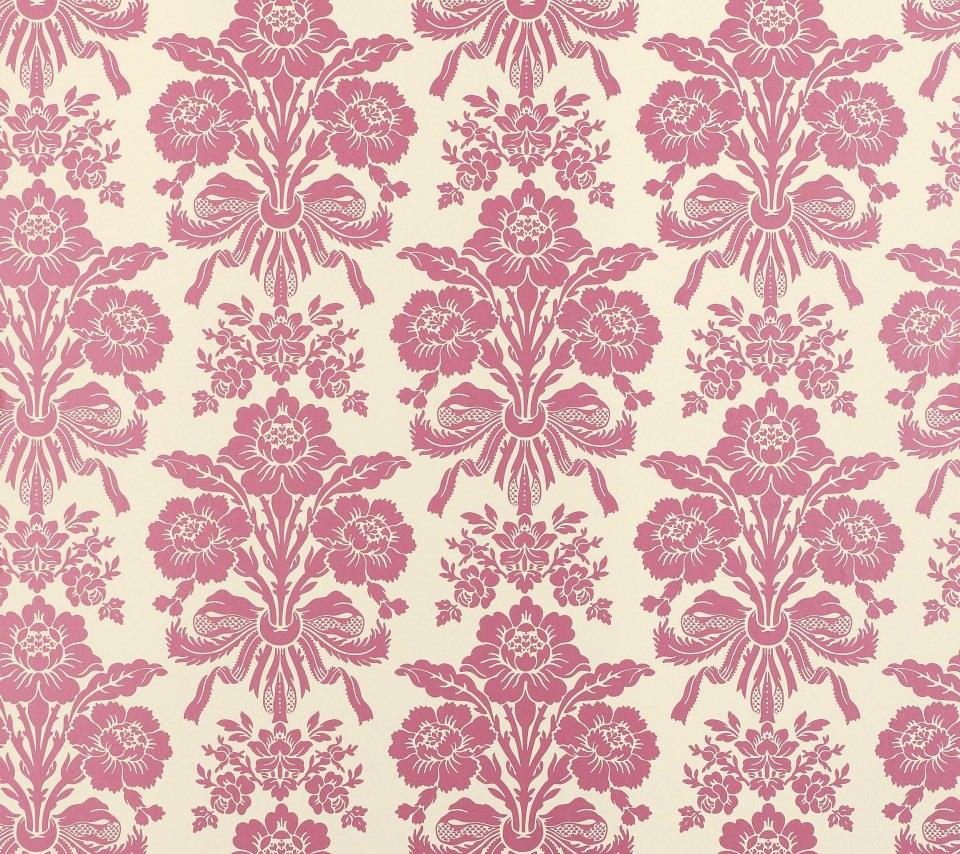 綺麗なピンクの花柄 Android壁紙