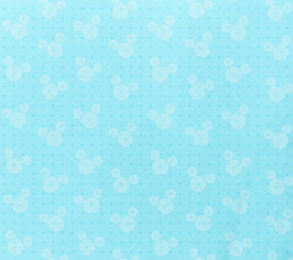 水色のミッキーマウス柄 Android壁紙