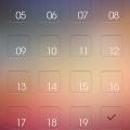 数字付きの淡いグラデーション iPhone5 スマホ用壁紙