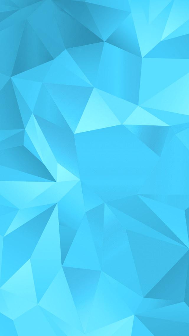 水色のモザイク iPhone5 スマホ用壁紙