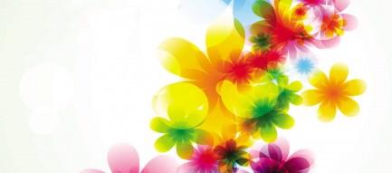 カラフルな花柄 Android壁紙