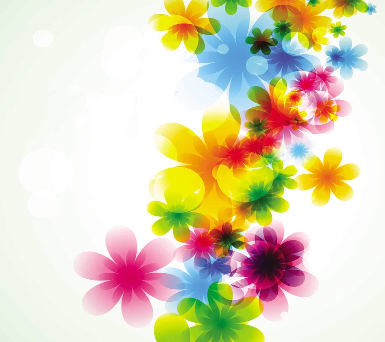 カラフルな花柄 android壁紙   wallpaperbox