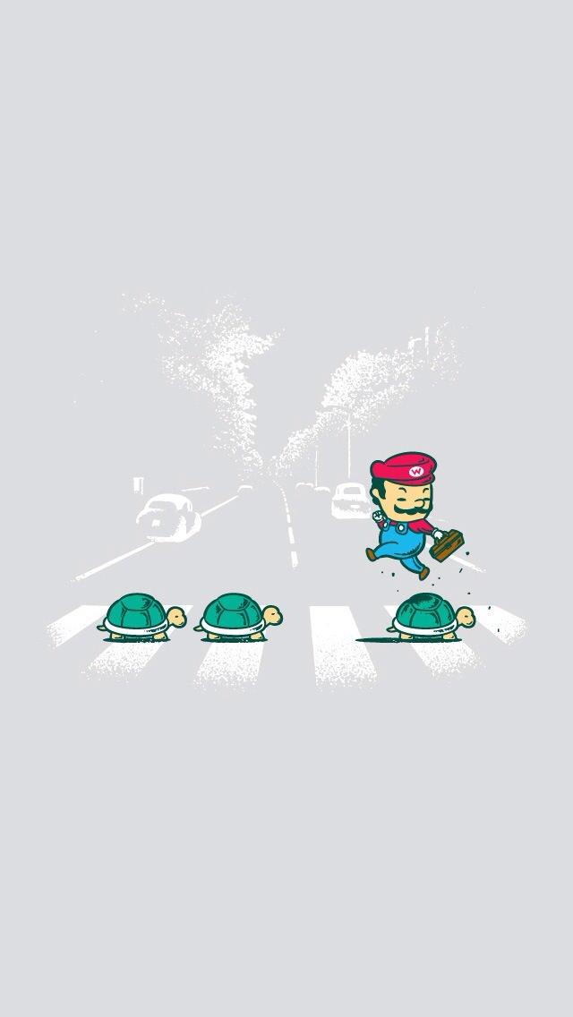 マリオとノコノコ iPhone5 スマホ用壁紙