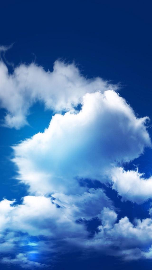 広がる青い空 iPhone5 スマホ用壁紙