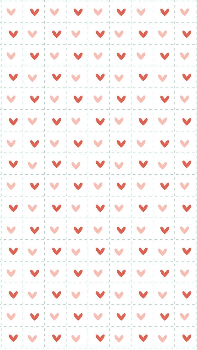 小さい赤のハート iPhone5 スマホ用壁紙