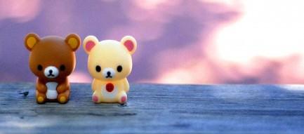 2匹の熊の人形 Android壁紙
