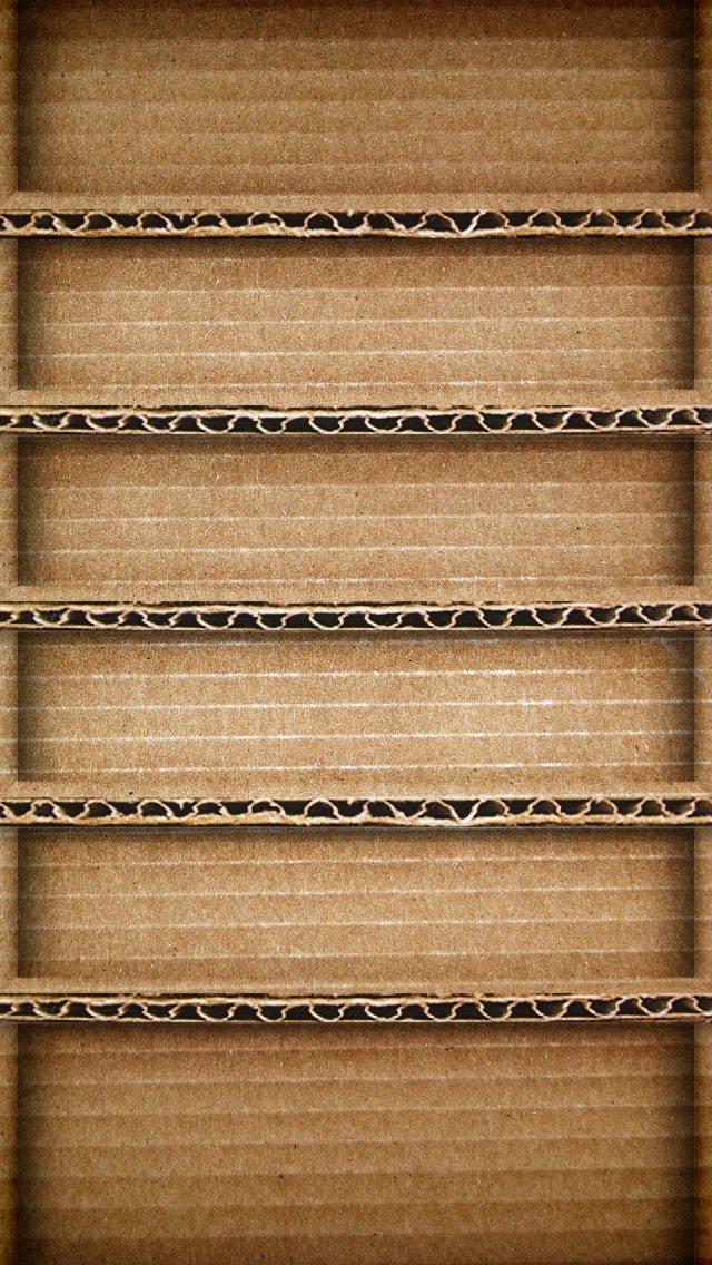 ダンボール棚 iPhone5 スマホ用壁紙