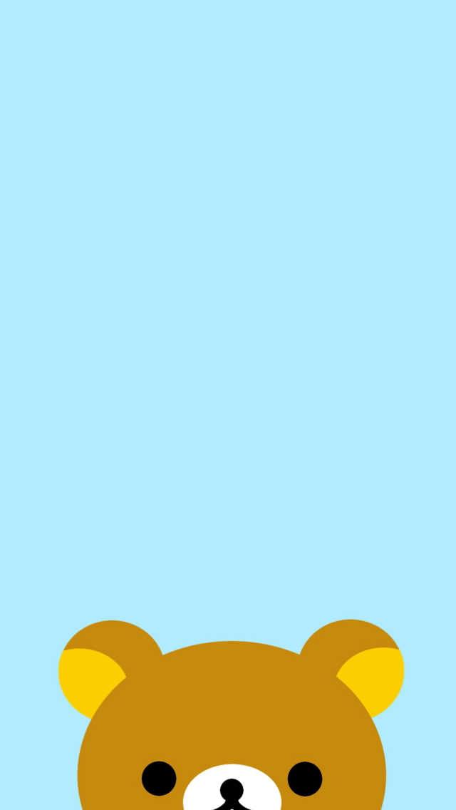 リラックマのイラスト Iphone5 スマホ用壁紙 リラックマの可愛いスマホ壁紙 Iphone待ち受け画面 画像