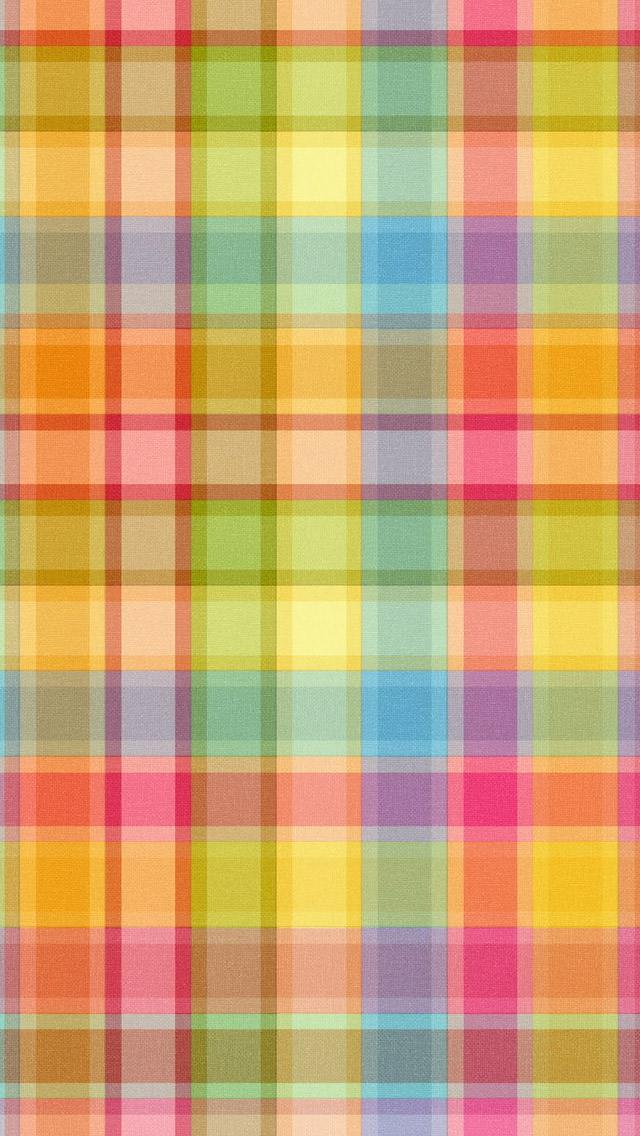 ポップなカラフルパターン iPhone5 スマホ用壁紙