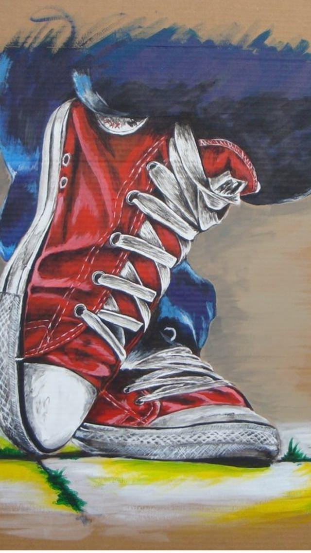 靴のイラスト iPhone5 スマホ用壁紙