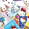 キティちゃんの切手 iPhone5 スマホ用壁紙