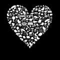 黒のハート iPhone5 スマホ用壁紙