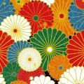 和風の花模様 iPhone5 スマホ用壁紙