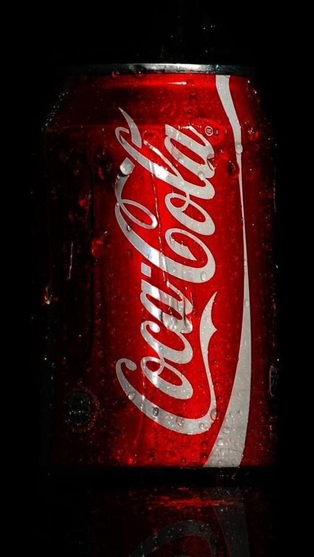 水滴のついたコカコーラ iPhone5 スマホ用壁紙