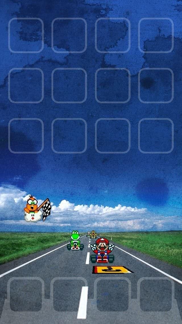マリオカート iPhone5 スマホ用壁紙
