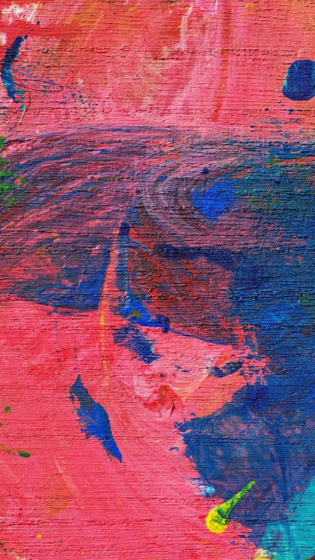ピンクと青のベタ塗り iPhone5 スマホ用壁紙