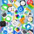 沢山のアイコン iPhone5 スマホ用壁紙
