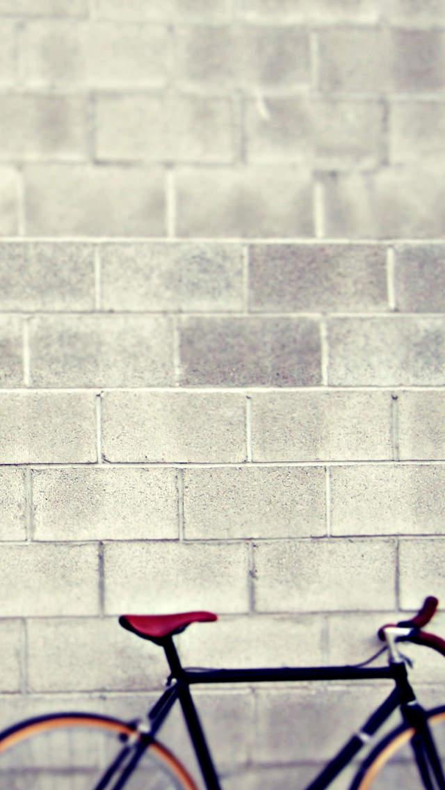 1台の自転車 iPhone5 スマホ用壁紙