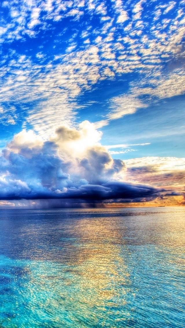 Morning Sea iPhone5 スマホ用壁紙
