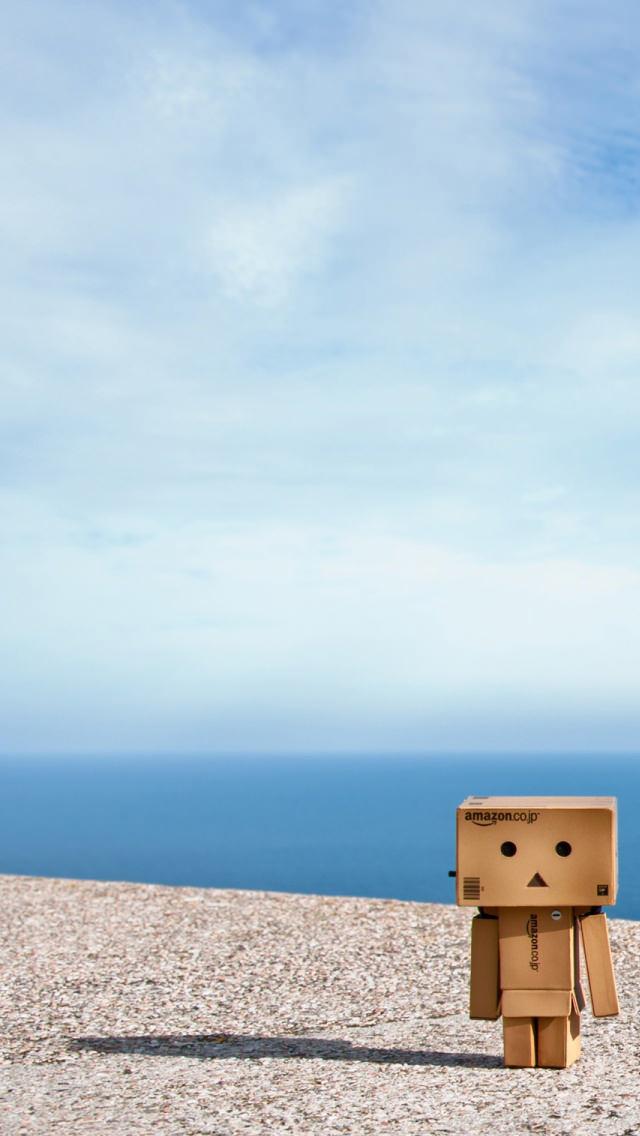 ダンボーと海 iPhone5 スマホ用壁紙