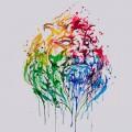 水彩で描かれたライオン iPhone5 スマホ用壁紙