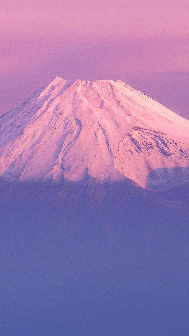 ピンクの富士山 iPhone5 スマホ用壁紙