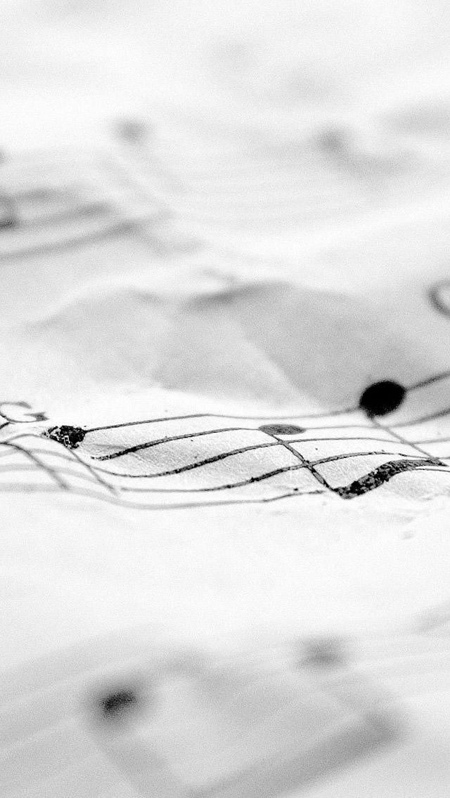音楽の譜面 iPhone5 スマホ用壁紙