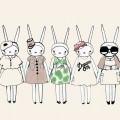 兎のポップアート iPhone5 スマホ用壁紙