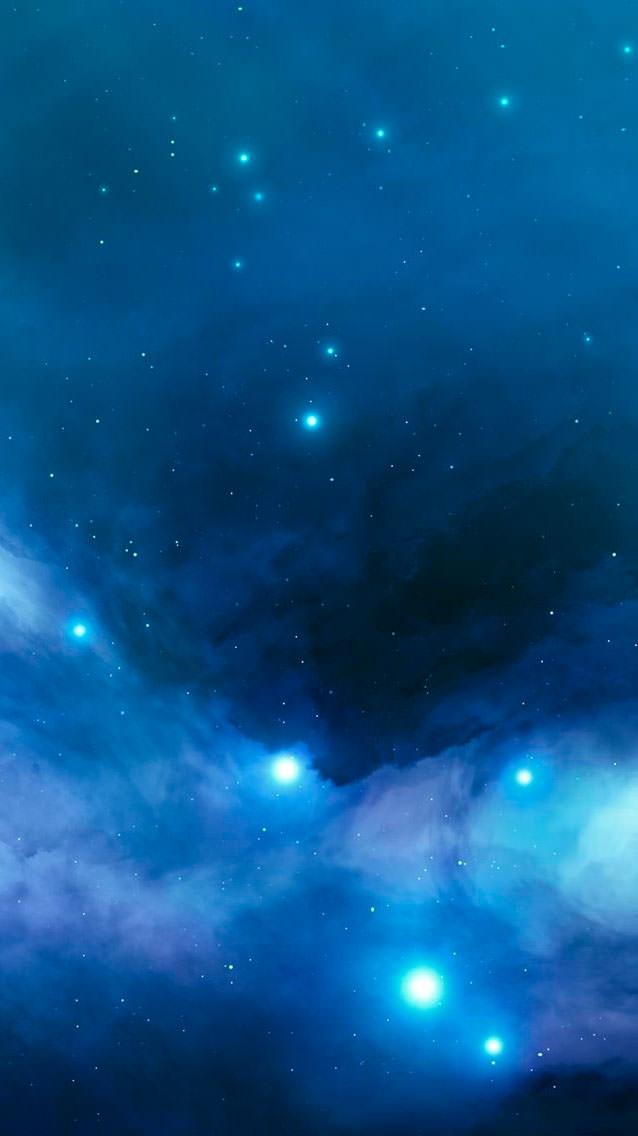 光る星空 iPhone5 スマホ用壁紙