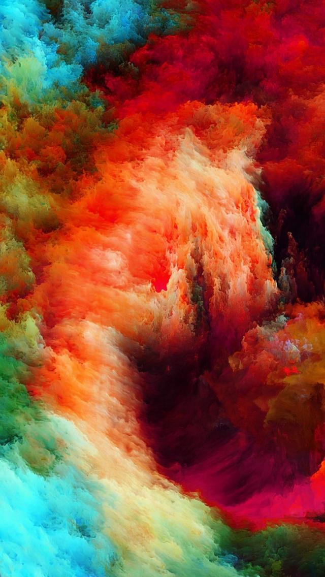 抽象的な油絵 iPhone5 スマホ用壁紙