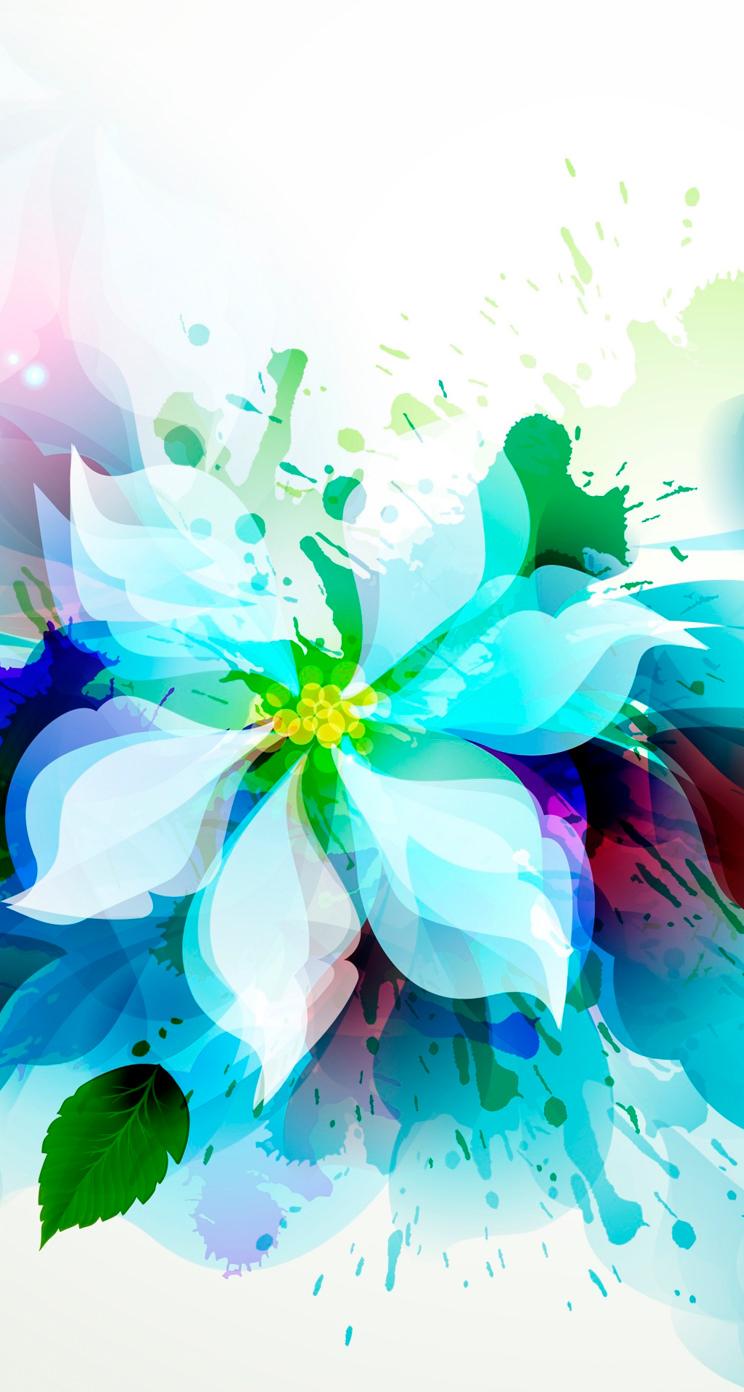 綺麗な花のイラスト iphone5 スマホ壁紙 | wallpaperbox