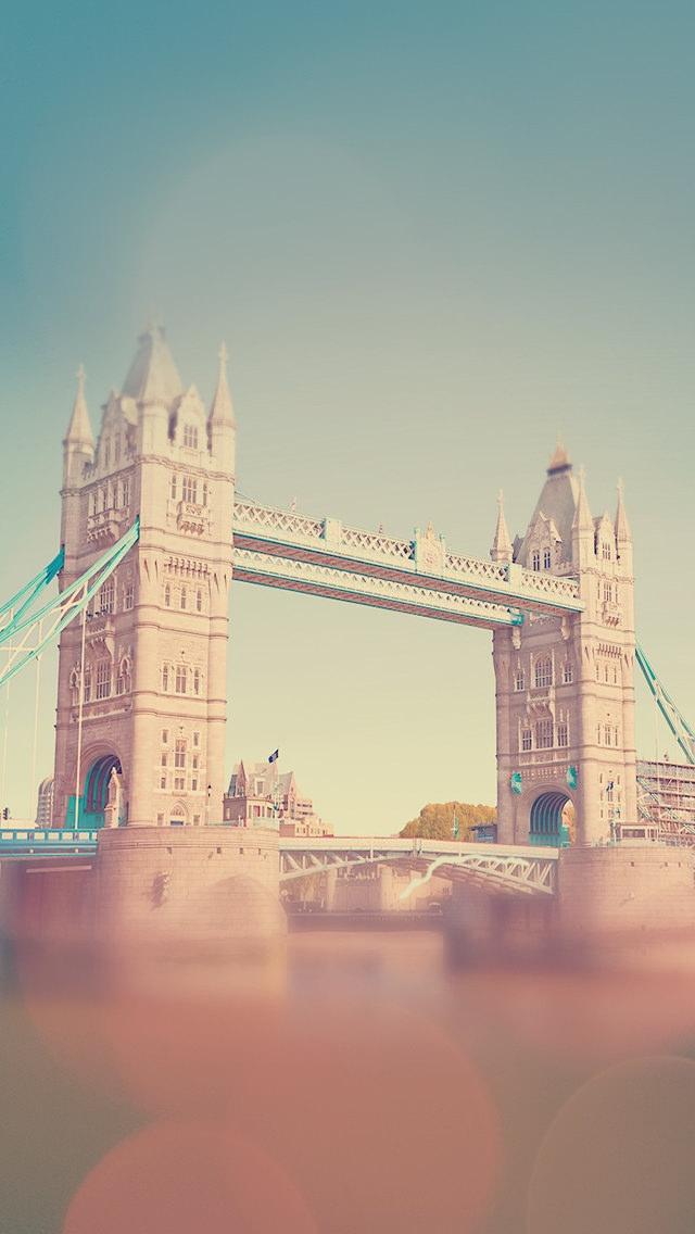 イギリス タワーブリッジ iPhone5 スマホ用壁紙