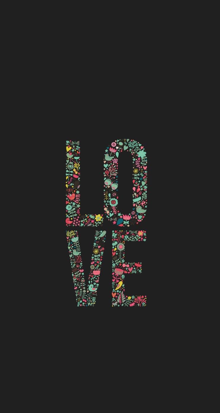 LOVE iPhone5 スマホ壁紙